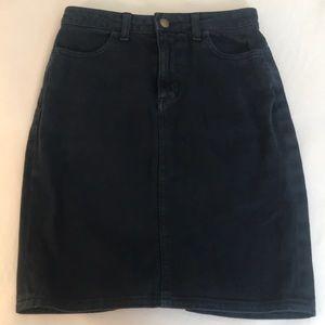 American apparel black denim pencil skirt